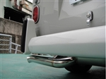"Vintage Speed 38mm (1 1/2"") Stainless Steel Super Flow Muffler  (Up to 165hp), Upright Engine, Standard Tailpipe, 1960-67 Bus, 155-206-05000"