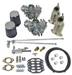 SCAT Dual 35mm PDSIT Solex Carb Kit, Ghia Dual Port Upright Engines, 30435EC_GHIA