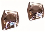 Torsion Bar Caps (Covers), No Hole, CHROME, Pair