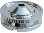 CB Performance Billet Aluminum Alternator and Generator Pulley, Chrome, CB 1912