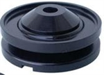 CB Performance Billet Aluminum Alternator and Generator Pulley, Black, CB 1914