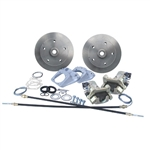 ROTOHUB Rear Disc Brake Kit, 1967 and Earlier Type 1, Porsche 5 Lug (5 x 130mm) Rotors, With Emergency Brake, CB4623