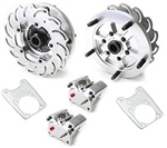 JAMAR Rear Disc Brake Kit, 14mm 5 Lug, Long Swing Axle or IRS, 4 Piston Calipers, DB204BB