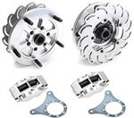 JAMAR Rear Disc Brake Kit, 14mm 5 Lug, Short Swing Axle, 4 Piston Calipers, DB205BB