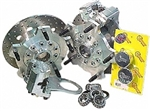 JAMAR Front Disc Brake Kit, 14mm 5 Lug, Dual Piston Caliper, Link Pin VW, Light Duty, DB400COMB