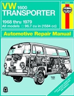 VW Transporter 1600 Workshop Manual: 1968-79 1600cc, by Haynes