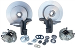 "Front Disc Brake Kit, Link Pin Beetle and Ghia, 2"" Lowered, Blank Rotors"