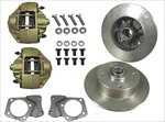 Front Disc Brake Kit, 1971-79 Super Beetle, Blank Rotors