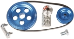 SCAT Serpentine Belt and Pulley Kit SPARE PARTS, Upper Alternator/Generator Pulley (Pulley ONLY), Satin, Black, Blue, or Red