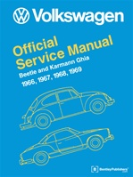 Volkswagen Official Service Manual Beetle and Karmann Ghia 1966-69, Type 1