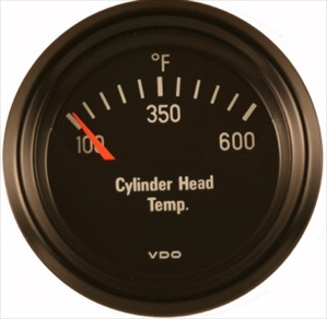 "VDO 600F Cylinder Head Temperature (CHT) Gauge, Cockpit, Black Face, 2 1/16"", V310901"