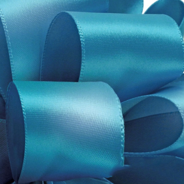 Single Face Satin Ribbbon Offray 340 Turquoise 5 Widths