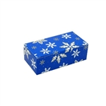 1/2 lb. Fudge Boxes-Blue  Snowflakes