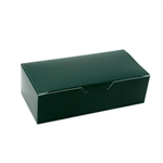 1 lb. Forest Green Rectangle-Fudge Boxes