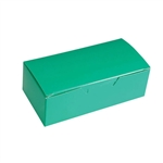 1 lb. Kelly Green Rectangle-Fudge Boxes