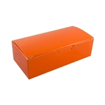 1 lb. Tangerine Orange Rectangle-Fudge Boxes