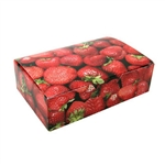 1-1/2 lb. Strawberry Pattern Chocolate Boxes
