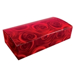 2 lb. Fudge Boxes - Dark Roses Pattern