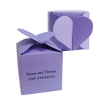 Heart Top Favor Truffle Boxes - Custom Printed
