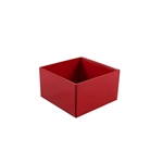 6 oz. Candy Box Bases-2 Layer Red