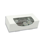 1 lb. White with Windows Rectangle-Candy Boxes