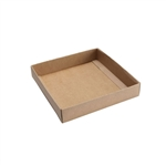 Box Bases - 8 oz. Kraft Square 1 Layer