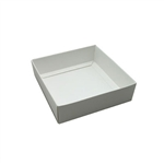 Box Bases - 8 oz. White Square 1 Layer Deep