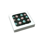 Chocolate Box Covers-8 oz.- White with Window