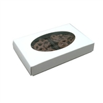 1/2 lb. Box Covers-1 Layer-Oval Window White