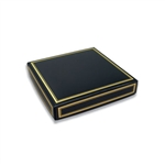 Chocolate Box Covers-8 oz.- Black with Gold Trim
