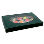 1 lb. Box Covers-1 Layer-Green with Oval Window
