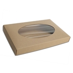1 lb. Box Covers-1 Layer-Kraft with Window