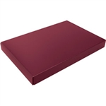 1-1/2 lb. Box Covers-1 Layer-Burgundy