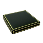Chocolate Box Covers-16 oz.-1 Layer-Black  with Gold Trim