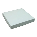 16 oz. Square White Chocolate Box Covers