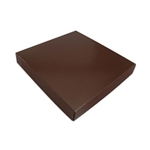 16 oz. Square Brown Chocolate Box Covers