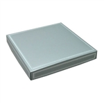 16 oz. Square Silver with Silver Candy Box Covers
