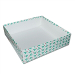 Candy Box Bases - 32 oz.-2 Layer -  Holly Berries