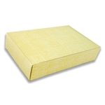 2 lb. Box Covers-2 Layer-Yellow Linen