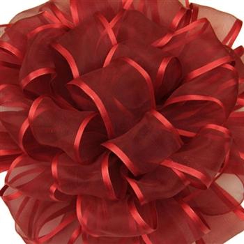 "Offray Arabesque Red Wired Ribbon 1-1/2"" x 50 Yards/Roll"