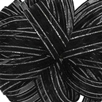 Offray Veronica ribbon Black Silver