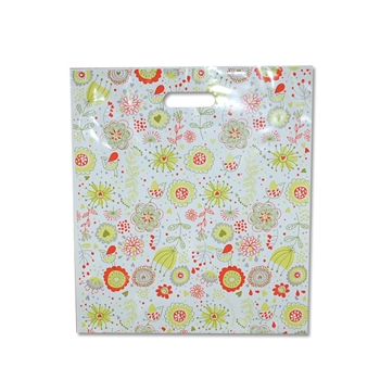 "Zinnia Orange - Designer Oxo-Biodegradable Plastic Bags 16"" x 18"" x 2"" - 500 Bags - 2.5 mil thickness"