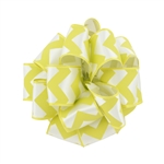 Wired Chevron Ribbon - Yellow & White