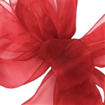 Offray Simply Sheer Asiana Ribbon - 250 Red