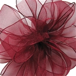 Offray Wire Edge Encore Ribbon - C14 Burgundy