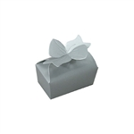 Small Silver Bow Favor Boxes