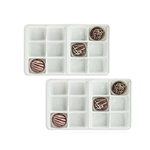 1/2 lb. plastic tray-12 cavities-assorted