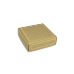 Chocolate Box Covers-3 oz.-1 Layer-Gold with Gold Trim