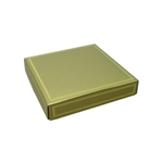 Chocolate Box Covers-8 oz.- Gold with Gold Trim