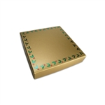 Chocolate Box Covers-8 oz.- Gold Holly Berries
